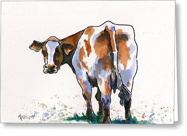 Bovine Greeting Cards - Big Bertha Greeting Card by Marsha Elliott
