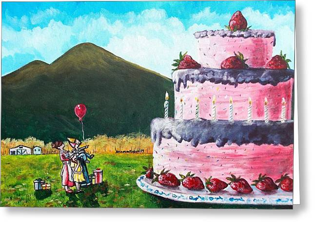 Delectable Greeting Cards - Big Birthday Surprise Greeting Card by Shana Rowe
