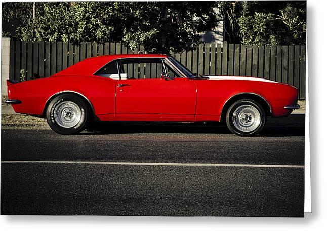Aotearoa Greeting Cards - Big Block Camaro Greeting Card by motography aka Phil Clark