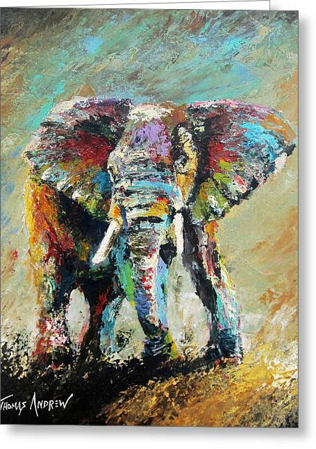 Roll Tide Paintings Greeting Cards - Big Blue Greeting Card by Thomas Andrew