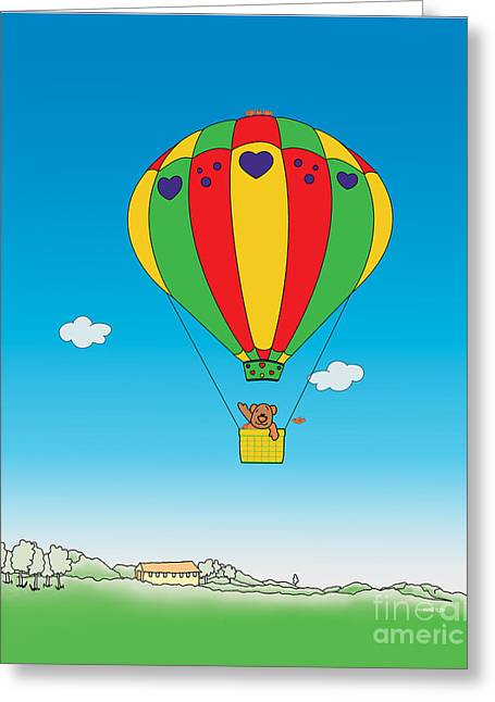 Toy Store Drawings Greeting Cards - Up to the Sky created by Kidslolll 20_24 Greeting Card by Kids Lolll
