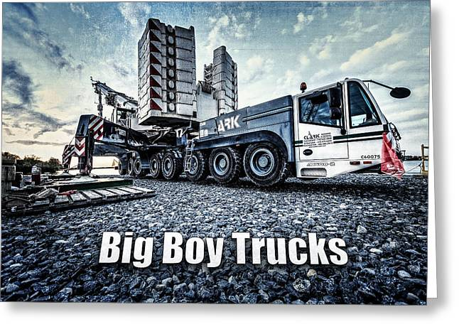 Grime Greeting Cards - Big Boy Trucks Greeting Card by Everet Regal