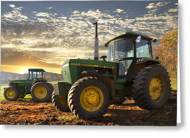 Tennessee Barn Greeting Cards - Big Boys Toys Greeting Card by Debra and Dave Vanderlaan