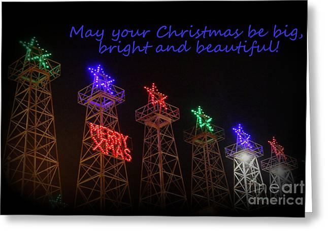 Big Bright Christmas Greeting  Greeting Card by Kathy  White