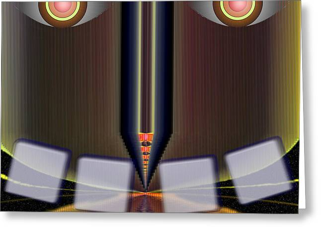 Tron Greeting Cards - Big Brother is Watching Greeting Card by Mario Carini