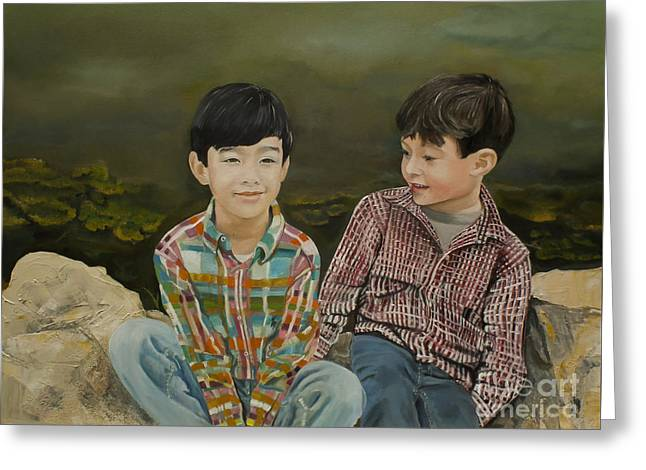 Little Boy Greeting Cards - Big Brother Greeting Card by Jan Dappen