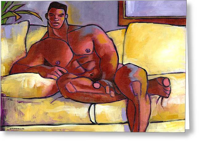 Muscular Greeting Cards - Big Brown Greeting Card by Douglas Simonson