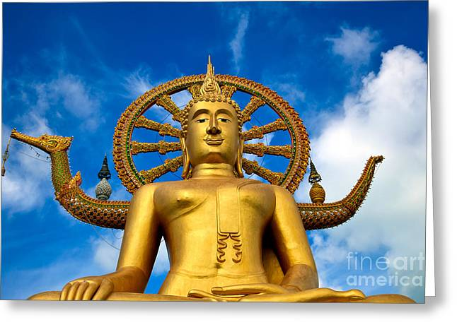 Religious Digital Greeting Cards - Big Buddha Greeting Card by Adrian Evans