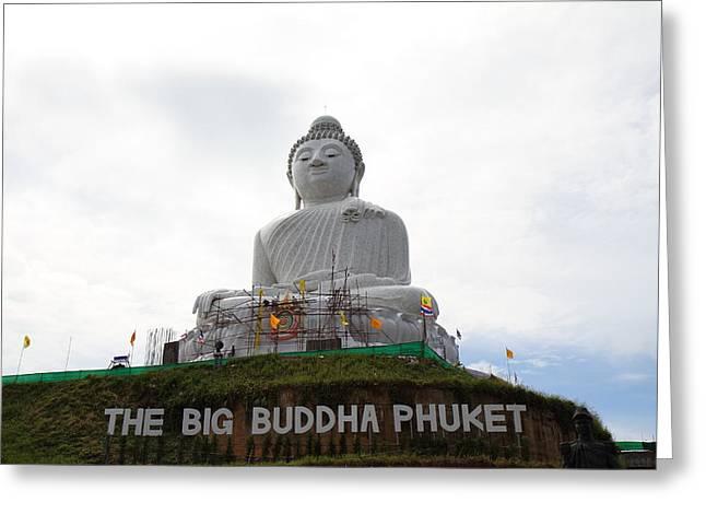 Big Greeting Cards - Big Buddha Phuket - Phuket Thailand - 01132 Greeting Card by DC Photographer
