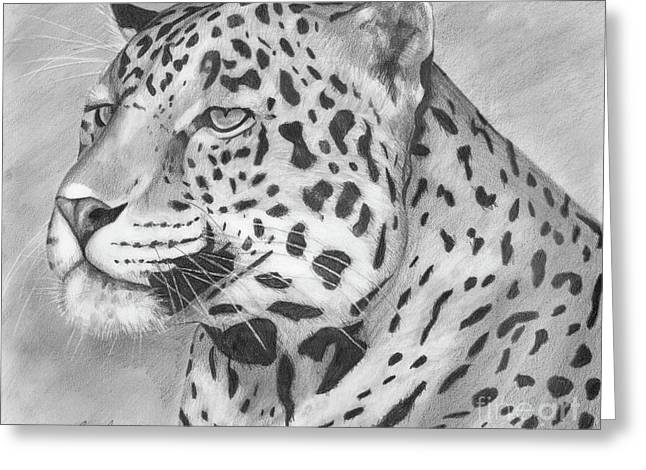 Spot Drawings Greeting Cards - Big Cat Greeting Card by Lena Auxier