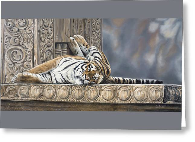 Tiger Greeting Cards - Big Cat Greeting Card by Lucie Bilodeau