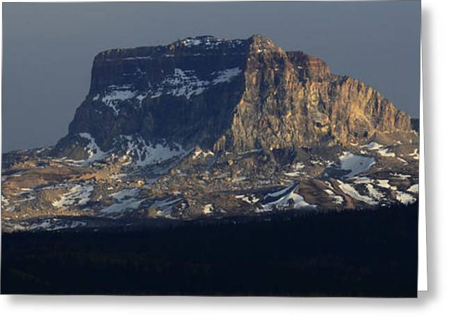 Big Sky Country Greeting Cards - Big Chief Mountain Montana Greeting Card by Bob Christopher
