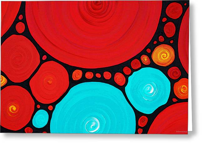 Art Buyers Greeting Cards - Big Circles - Abstract Art By Sharon Cummings Greeting Card by Sharon Cummings