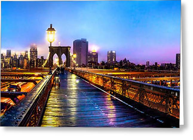 Manhattan Greeting Cards - Big City Blues Greeting Card by Az Jackson