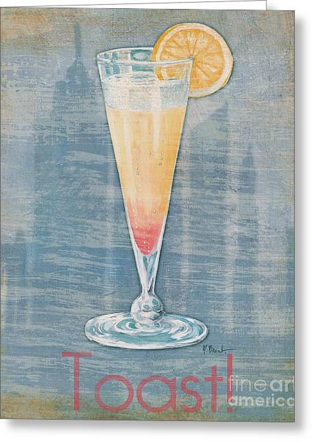 Cocktail Greeting Cards - Big City Cocktails Champagne Greeting Card by Paul Brent