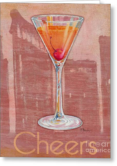 Cocktail Greeting Cards - Big City Cocktails Manhattan Greeting Card by Paul Brent