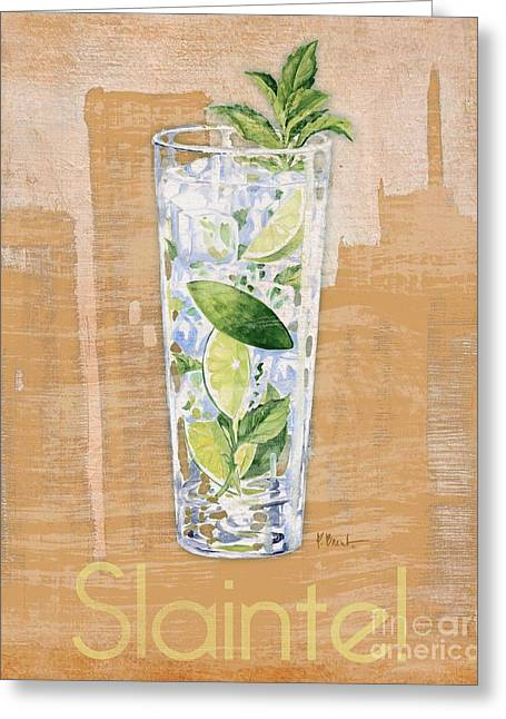 Cocktail Greeting Cards - Big City Cocktails Mojito Greeting Card by Paul Brent
