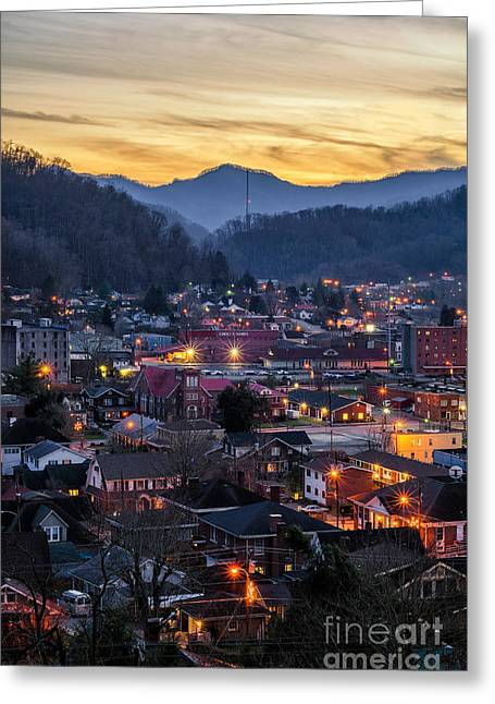 Eastern United States Greeting Cards - Big City Lights Greeting Card by Anthony Heflin