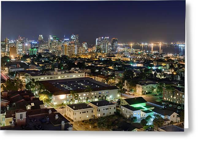 Long Street Greeting Cards - Big City Nights Greeting Card by Alexander Kunz