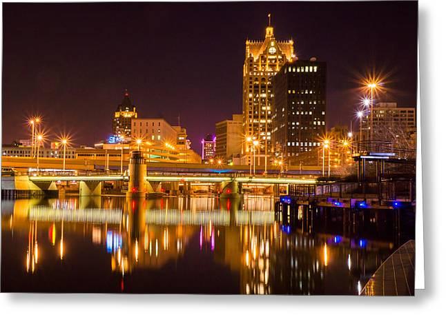 Riverwalk Greeting Cards - Big City Serenity Greeting Card by Bill Pevlor