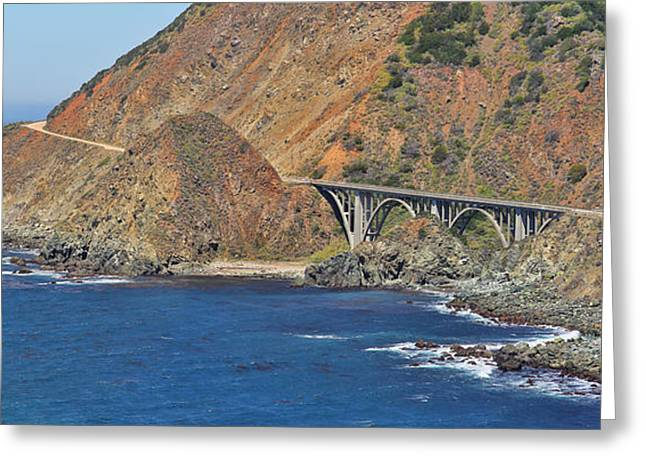 Big Sur California Greeting Cards - Big Creek Bridge Panorama Greeting Card by Jack Schultz