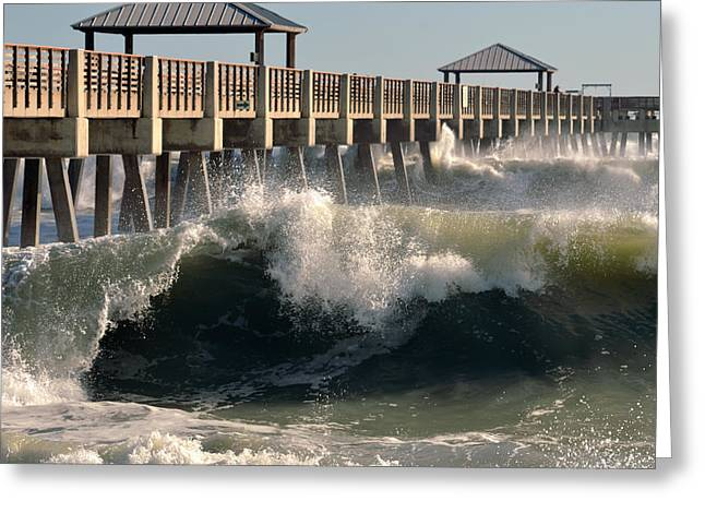 Surfing Photos Digital Art Greeting Cards - Big Curl Greeting Card by Laura  Fasulo