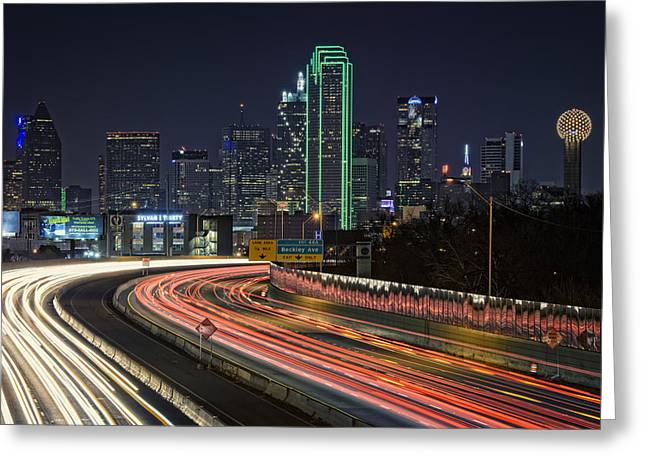 Traffic Lights Greeting Cards - Big D Greeting Card by Rick Berk