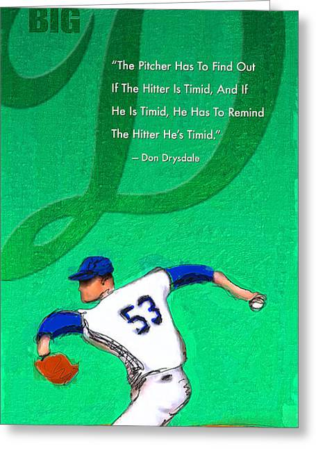 Baseball Uniform Digital Art Greeting Cards - Big D Greeting Card by Ron Regalado
