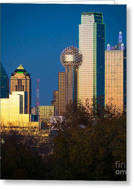 Dallas Photographs Greeting Cards - Big D Up Close Greeting Card by Inge Johnsson
