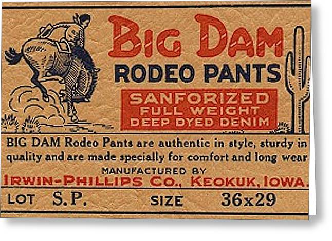 Big Dam Quality  Rodeo Pants Greeting Card by Jame Hayes