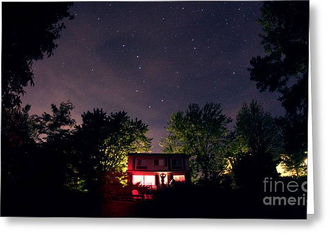 Little Cabin Greeting Cards - Big Dipper And Little Dipper Greeting Card by John Chumack