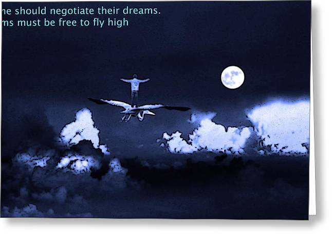 Big dreams Greeting Card by Manjot Singh Sachdeva