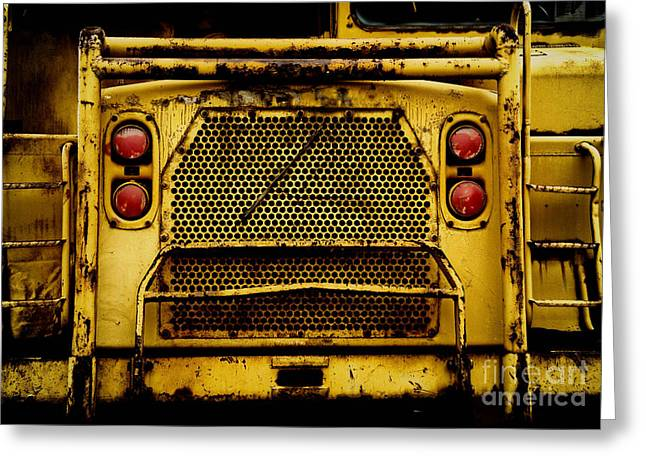 Bulldozer Greeting Cards - Big Dump Truck Grille Greeting Card by Amy Cicconi