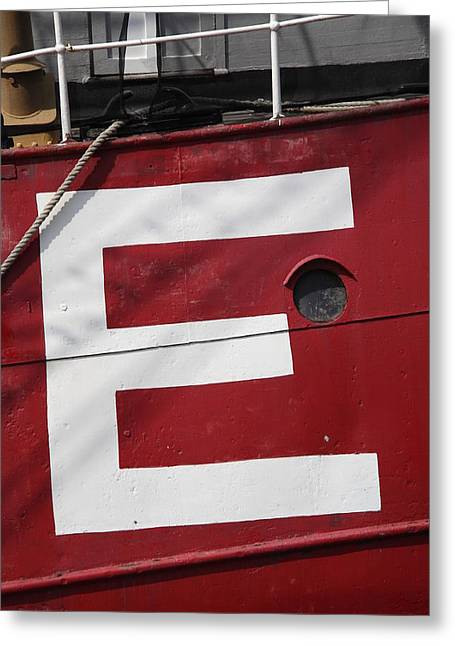 Port Holes Greeting Cards - Big E Greeting Card by Frank Romeo