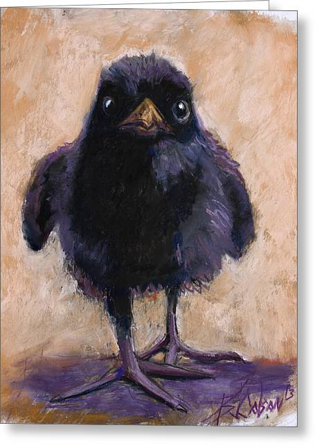 Raven Pastels Greeting Cards - Big Foot Greeting Card by Billie Colson
