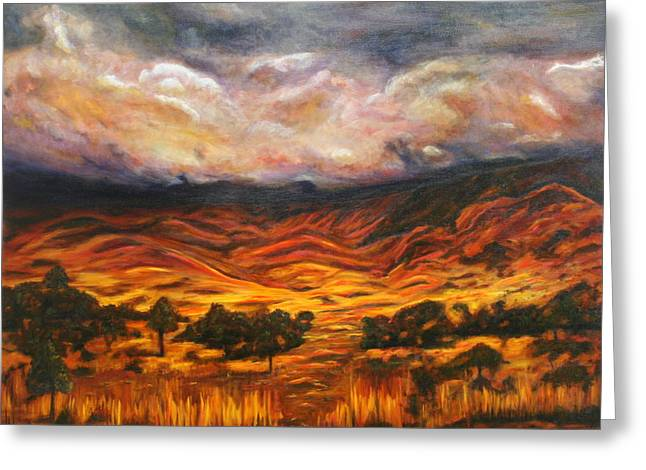 Lyndsey Hatchwell Greeting Cards - Big Gountry - Mac Donnell Ranges Australia Greeting Card by Lyndsey Hatchwell