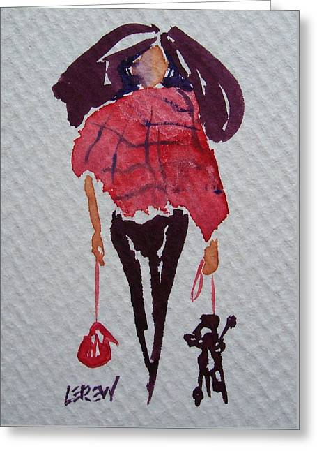 Loose Hair Greeting Cards - Big Hair Day Greeting Card by Larry Lerew