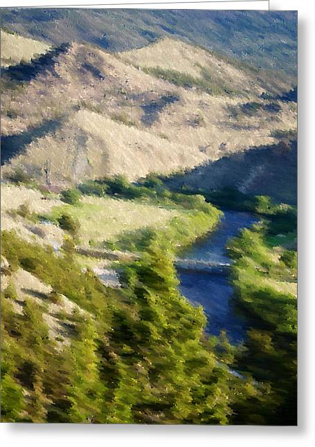 Landscape Posters Greeting Cards - Big Hole River Divide Mt Greeting Card by Kevin Bone