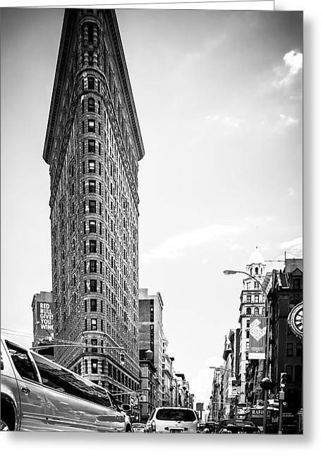 Hannes Cmarits Greeting Cards - Big In The Big Apple - Bw Greeting Card by Hannes Cmarits