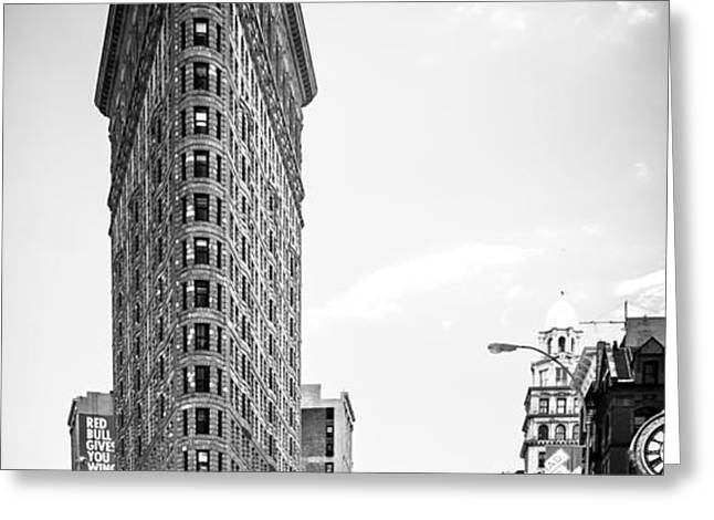 big in the big apple - bw Greeting Card by Hannes Cmarits