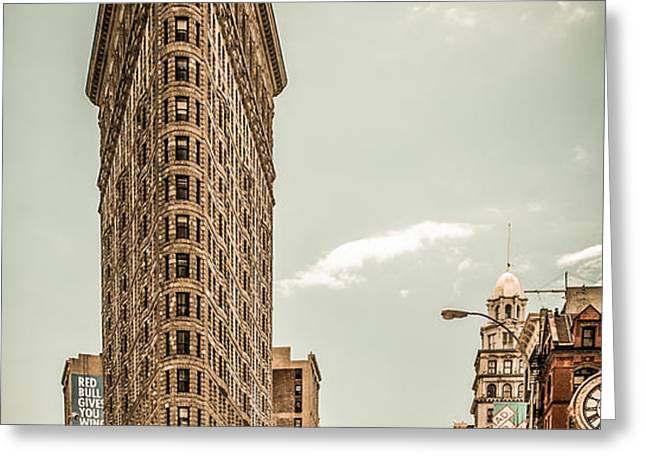 big in the big apple Greeting Card by Hannes Cmarits