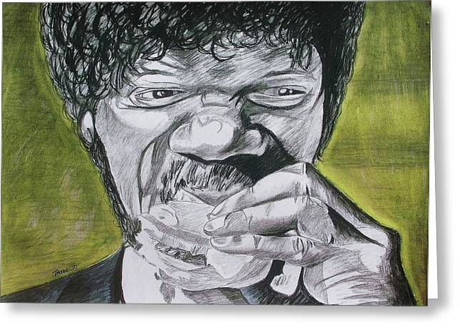 Samuel L Jackson Greeting Cards - Big Kahuna Burger Greeting Card by Jeremy Moore