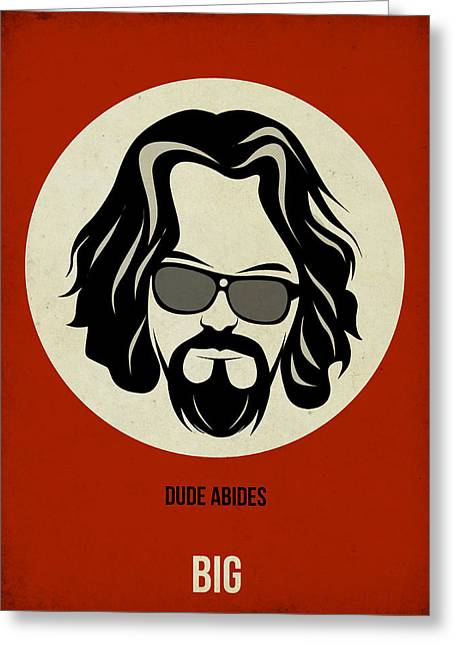 Famous Actor Greeting Cards - Big Lebowski Poster Greeting Card by Naxart Studio