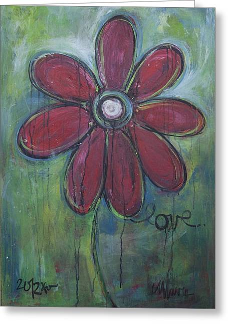 Big Love Daisey Greeting Card by Laurie Maves ART