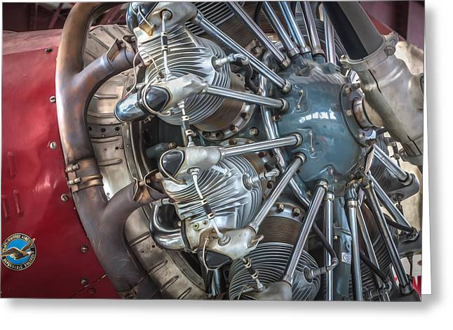 Ford Tri-motor Greeting Cards - Big Motor Vintage Aircraft  Greeting Card by Rich Franco