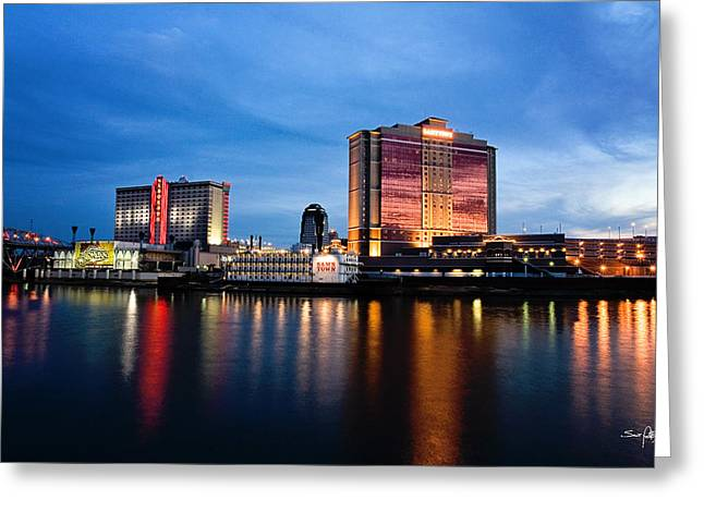 North Louisiana Greeting Cards - Big Night on the River Greeting Card by Scott Pellegrin