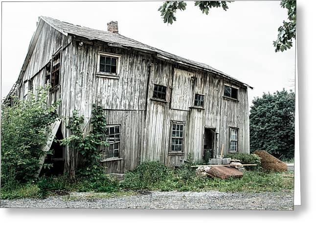Old Barns Greeting Cards - Big Old Barn - Rustic - Agricultural Buildings Greeting Card by Gary Heller