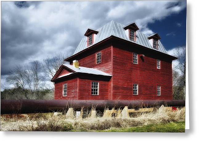 Saw Greeting Cards - Big Otter Mill Ca 1785 Greeting Card by Steve Hurt