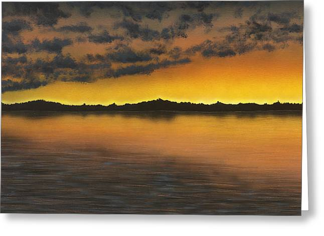 Amazing Sunset Paintings Greeting Cards - Big Pine Greeting Card by Justin  Strom