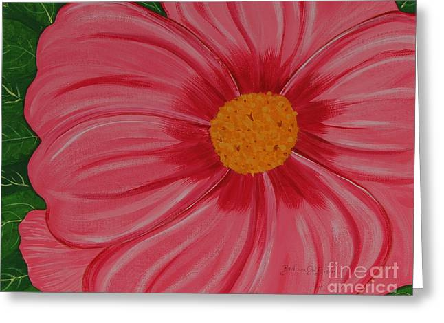 Green Barbara Griffin Art Greeting Cards - Big Pink Flower - Florist - Gardener Greeting Card by Barbara Griffin